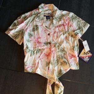 Havana Jack's Tropical Tie Up Shirt